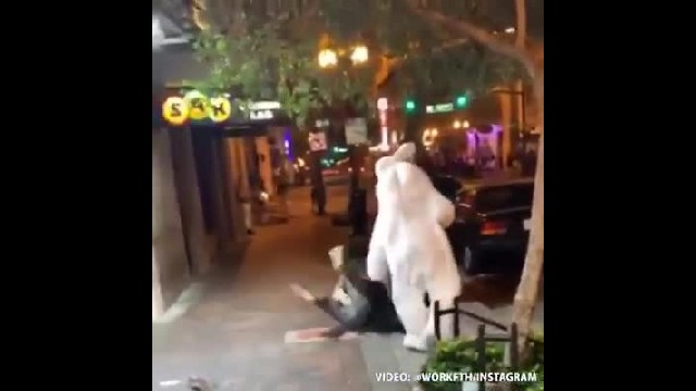 Easter bunny delivers whooping to violent suspect before cops arrive