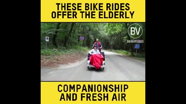Volunteers all over the world are taking the elderly on rickshaw rides out in nature