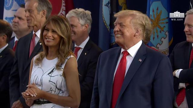 President Trump and the First Lady participate in the 2020 mount rushmore fireworks celebrations