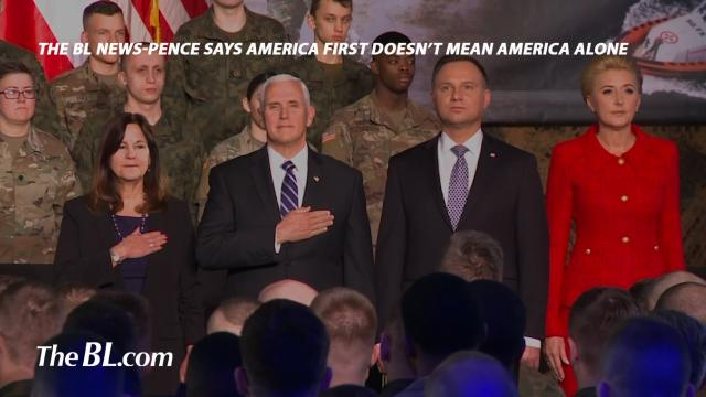 """Vice-President Pence says """"America First"""" doesn't mean America alone"""
