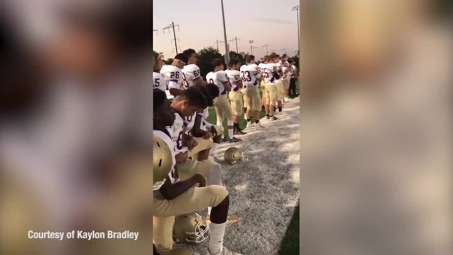 A high school football team decided to take a knee for the anthem, so the refs taught them a lesson