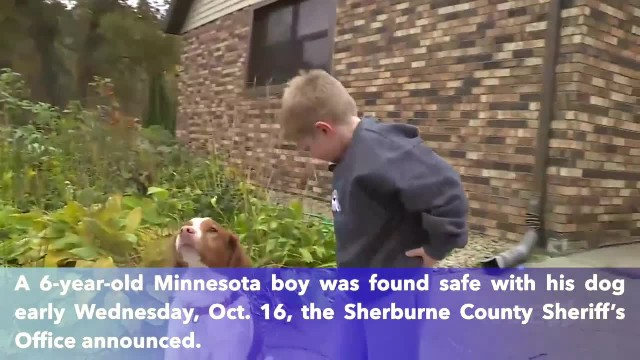 Missing 6-year-old Minnesota found safe with his dog after hundreds show up for search