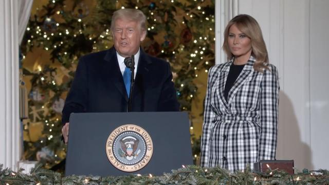 President Trump delivers remarks at the 2020 national Christmas tree lighting