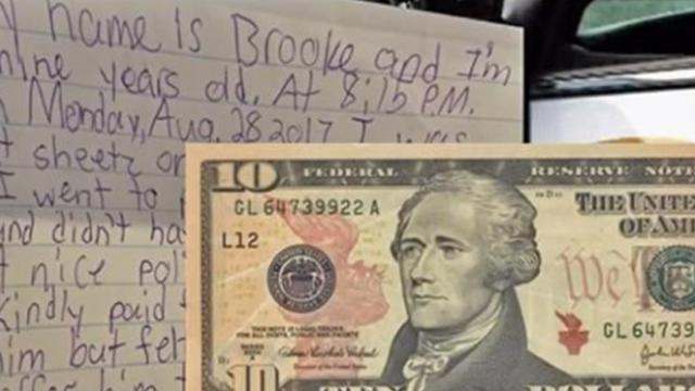 State police receives letter from 9-year-old with $10 bill inside, and know they have to respond str