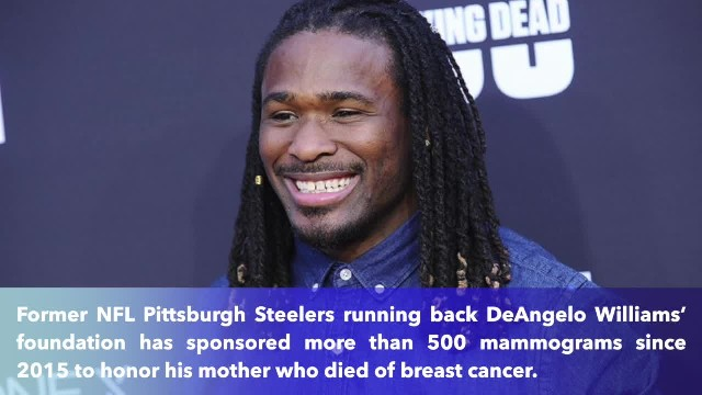 Football star sponsors over 500 mammograms to honor mother who died of breast cancer