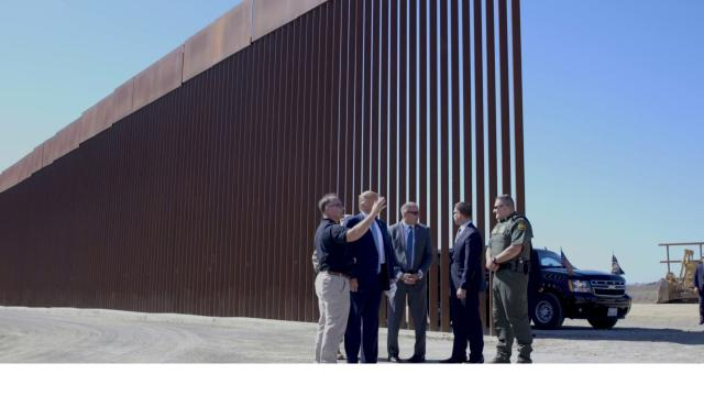 President Donald Trump Tours the Progress on the Border Wall in San Diego, CA