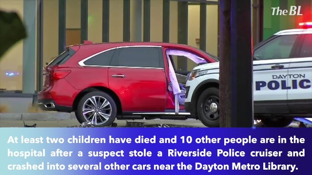 2 children dead, at least 10 wounded after suspect crashes stolen police SUV