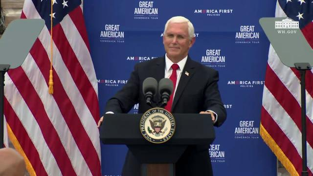 Vice President Pence delivers remarks on the Trump administration's pro-growth economic policies
