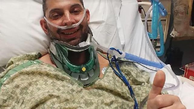 Firefighter miraculously starts breathing again after mystery illness nearly kills him