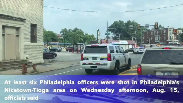 At least six Philadelphia officers injured as they respond to shooting incident !