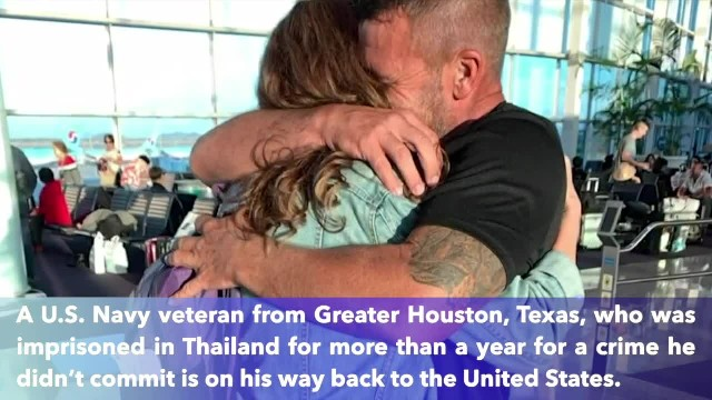 Texas Navy veteran reunited with family after jailed in Thai prison for over a year