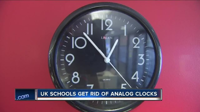 Schools are removing analog clocks from exam rooms because kids can't read them