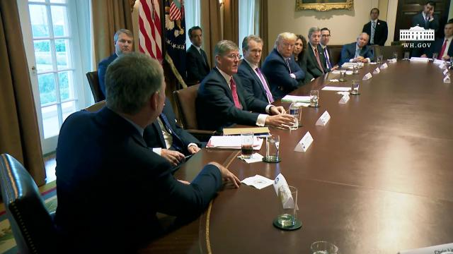 President Trump meets with bankers on COVID-19 response