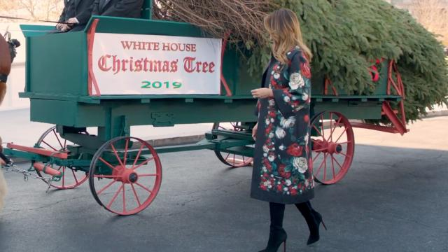 First Lady Melania Trump Receives the 2019 White House Christmas Tree