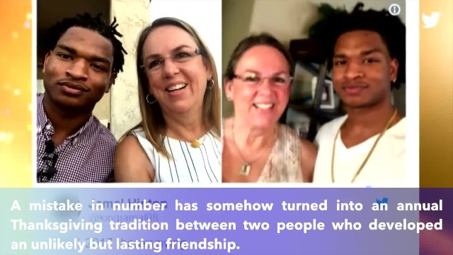 Grandma who texted wrong teen for Thanksgiving celebrates 4th holiday with him