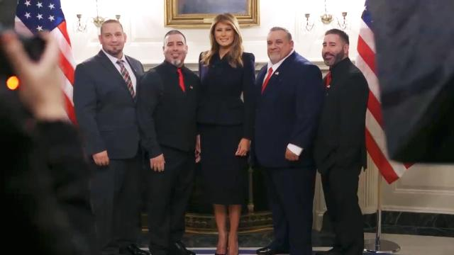 First Lady Melania Trump welcomes the 2020 State of the union guests