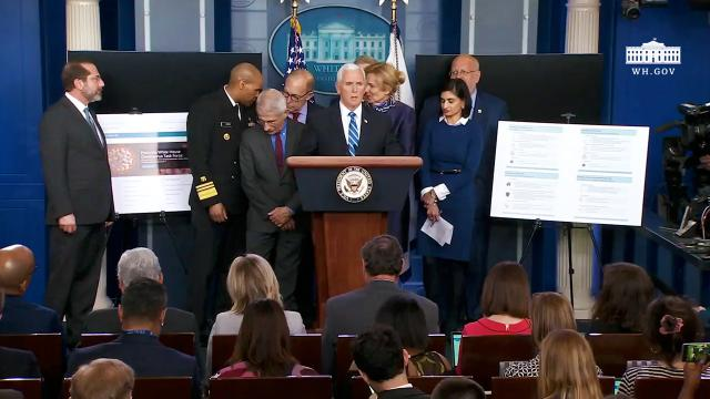 Vice President Pence and members of the coronavirus task force hold a press briefing