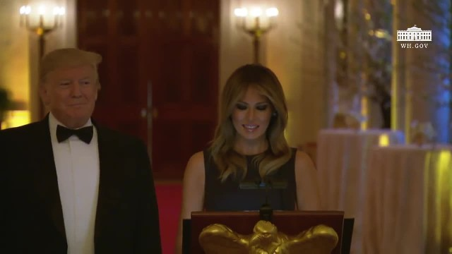 President Trump and The First Lady Host the White House Historical Association Dinner