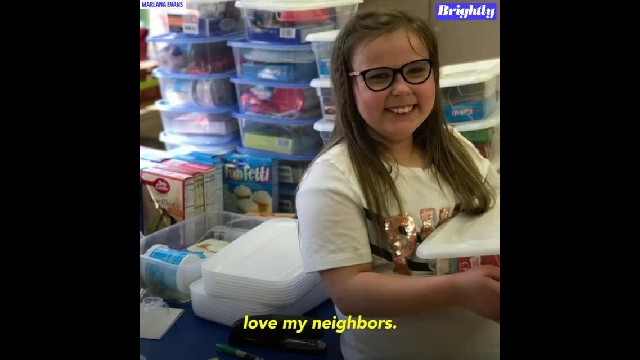 Girl builds 'birthday boxes' for classmates who can't afford to have parties