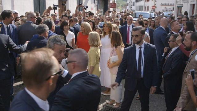First Lady Melania Trump Attends the G7 in Biarritz, France