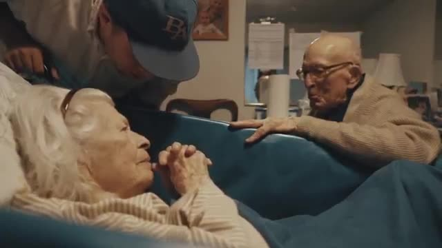 A 105-year-old Man Visits The Hospital To See His 100-year-old Wife On Their 80th Wedding Anniversar