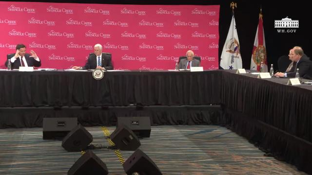 Vice President Pence participates in a roundtable with hospitality and tourism industry leaders