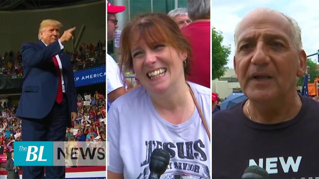 Trump touts love fest as supporters line up for hours ahead of rally in New Hampshire