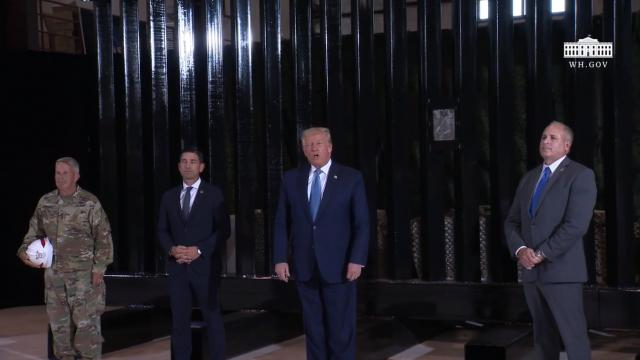 President Trump receives a border wall construction and operational update