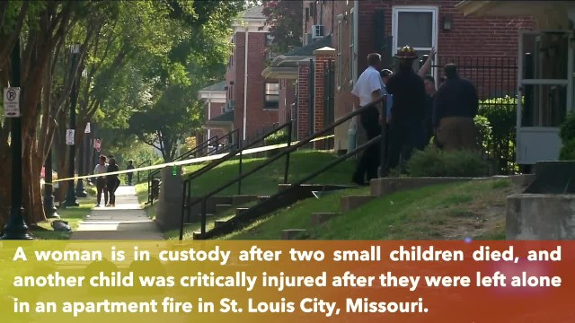 2 small children died, another child critically injured after apartment fire in St. Louis, Missouri