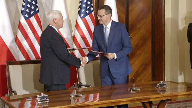 Vice President Mike Pence Holds Meetings with President Duda of Poland
