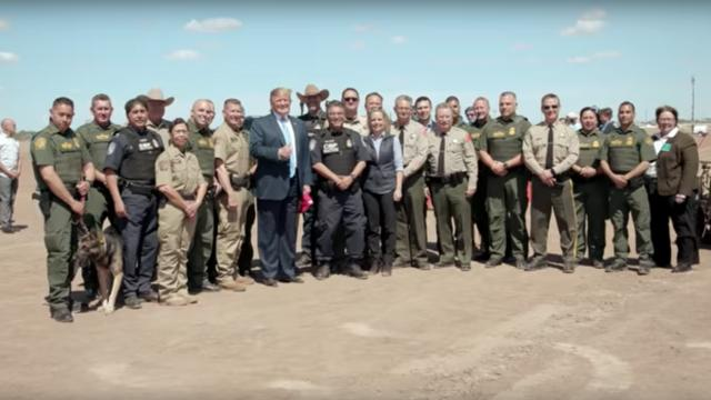 President Donald Trump travels to Calexico, CA to inspect a completed portion of the border wall
