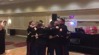 Marines Standing Arm In Arm Singing 'God Bless The USA' Will Have You Beaming With Pride