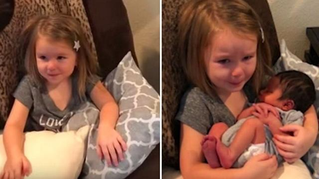 Mom Places Baby Cousin In Little Girl's Lap But Emotional Reaction To Newborn Leaves Family In Tears