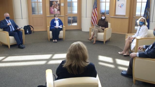 First Lady Melania Trump visits concord hospital in New Hampshire - 09:17:20