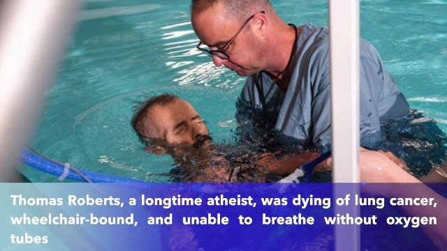 Wheelchair-bound Alabama man who is dying of cancer gets baptized as his last request