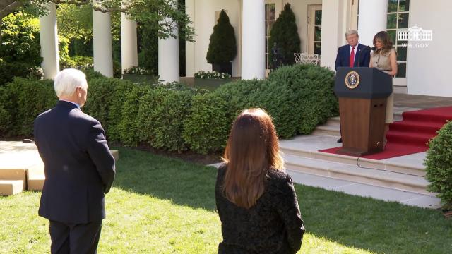 President Trump delivers remarks at the White House national day of prayer service