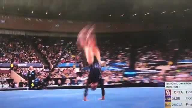 Mary Lou Retton's Daughter Just Nailed Her Routine At The Women's Gymnastics Championships