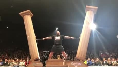 """""""The mountain"""" wins europe's strongest man title for the 5th time"""