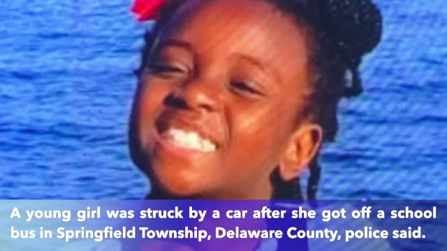 7-year-old girl in Pennsylvania struck by car after getting off school bus