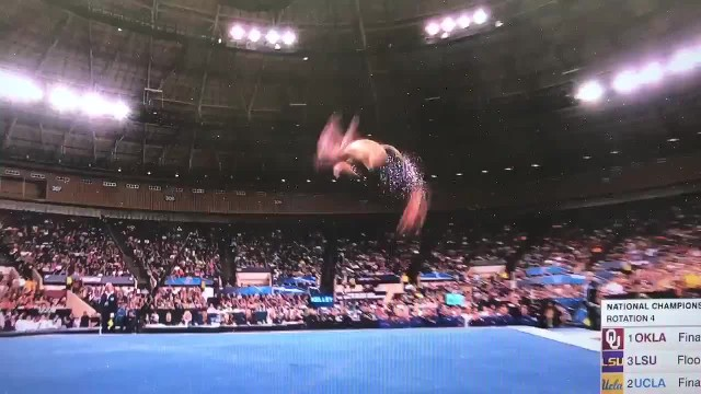 Mary Lou Retton's daughter performs near-perfect routine at NCAA women's gymnastics championships 1