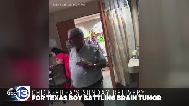 Chick-fil-A makes Sunday delivery for Texas boy battling brain tumor