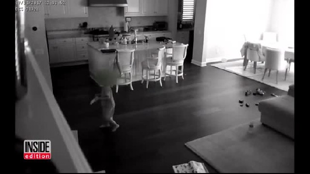 Nanny is babysitting boy but senses they're not alone, then dad sees chilling security footage