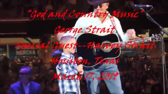George Strait's grandson joins him onstage for duet that has crowd roaring
