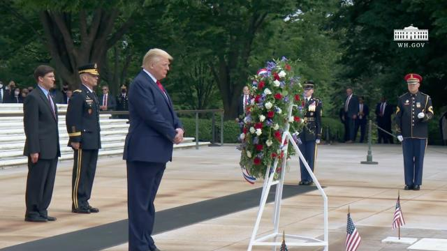 President Trump and Vice President Pence participate in a wreath laying ceremony