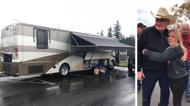 'Angel' Oregon man gives motor home to single mom who lost everything