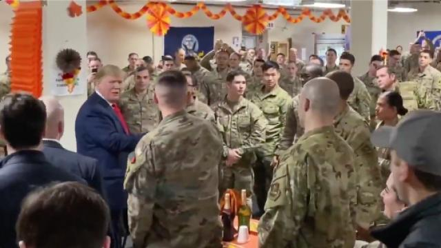 President Trump just made a surprise visit to Afghanistan on Thanksgiving to visit and encourage our