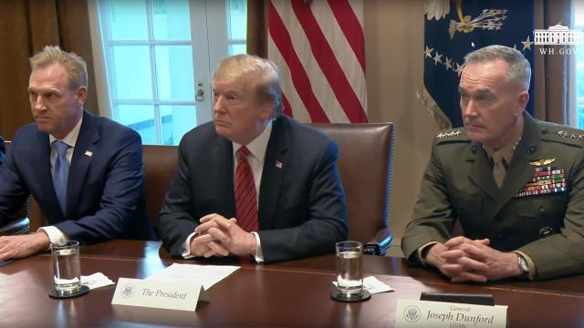 President Trump is Briefed by Senior Military Leaders, before annual dinner