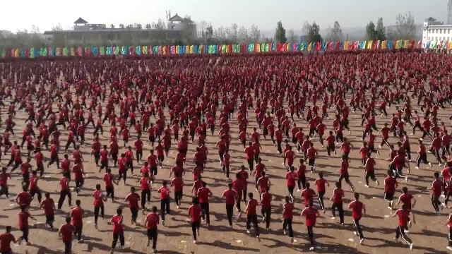 Hundreds Of Martial Artists Perform Hauntingly Awesome Routine In Perfect Unison, And It's Unlike An