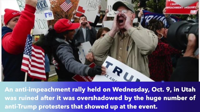 Anti-impeachment rally ruined after 'three times as many' anti-Trump protesters show up