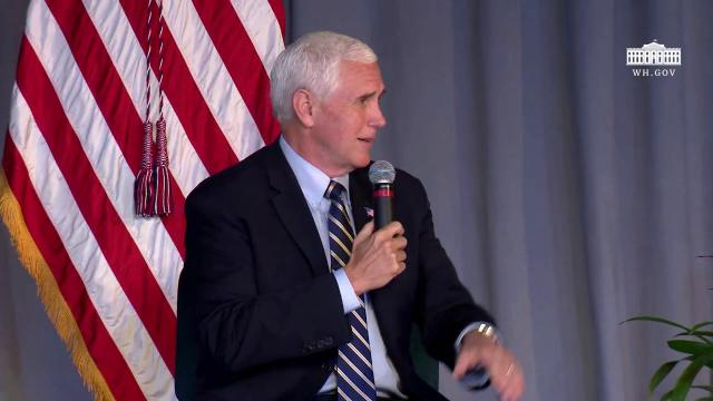 Vice President Pence participates in a listening session with faith and community leaders